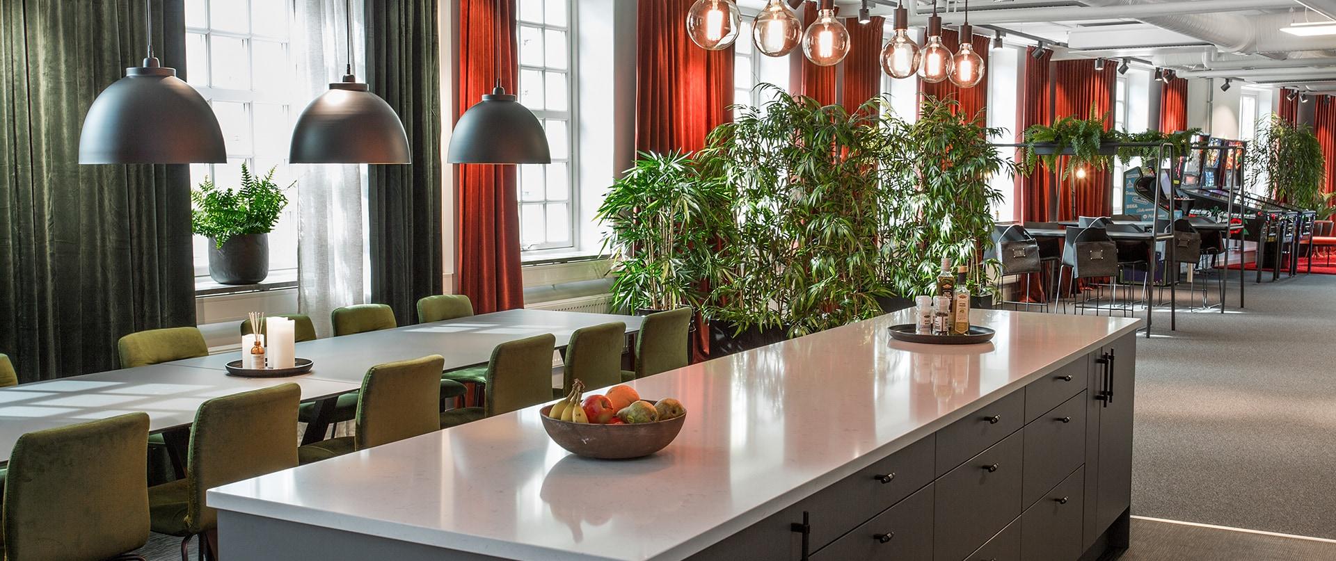 Kök och sällskapsutrymme hos Adwise Mediabyrå