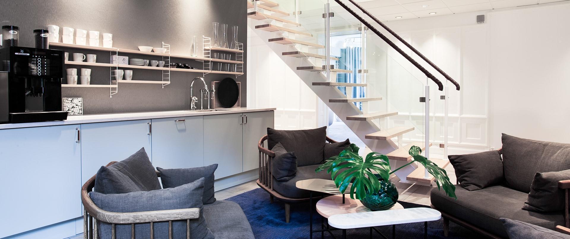Lounge i skandinavisk stil