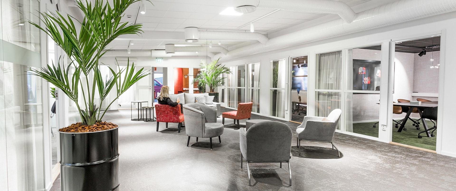 Lounge hos Stavdal Projektcenter
